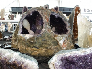 Very large amethyst geode, about 5 ft in diameter.