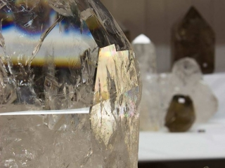A very large, very clear, quartz crystal